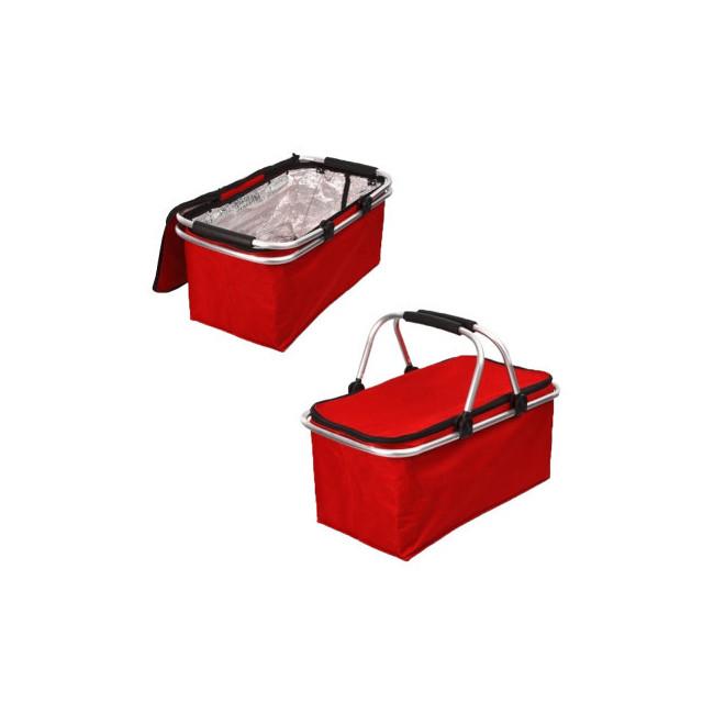 Термосумка для пікніка MH-3078 21х24х44 см, червона