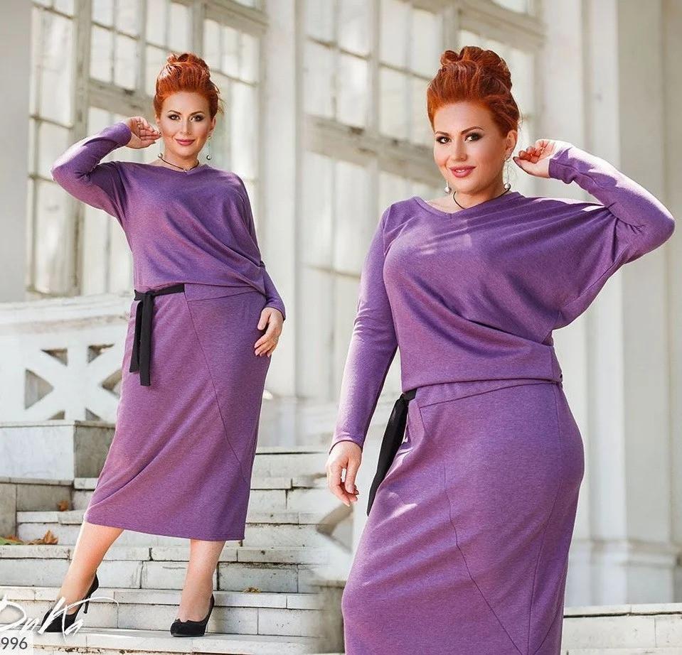 Батальное платье миди