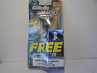 Станок мужской для бритья Gillette Mach 3 + 1 кассета + гель для бритья 25 гр. Оригинал