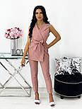 Жіночий річний брючний костюм-двійка з жилетом і брюками в кольорах (Норма), фото 2