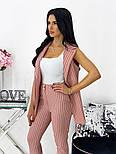 Жіночий річний брючний костюм-двійка з жилетом і брюками в кольорах (Норма), фото 3