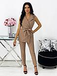 Жіночий річний брючний костюм-двійка з жилетом і брюками в кольорах (Норма), фото 4