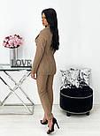 Жіночий класичний брючний костюм-трійка в смужку (Норма), фото 5