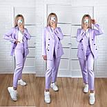 Женский стильный брючный костюм с пиджаком и брюками в расцветках (Норма), фото 6