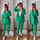 Жіночий стильний брючний костюм з жакетом і брюками в кольорах (Норма), фото 2