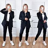 Стильний жіночий брючний костюм з жакетом і брюками 17 забарвлень (Норма), фото 6