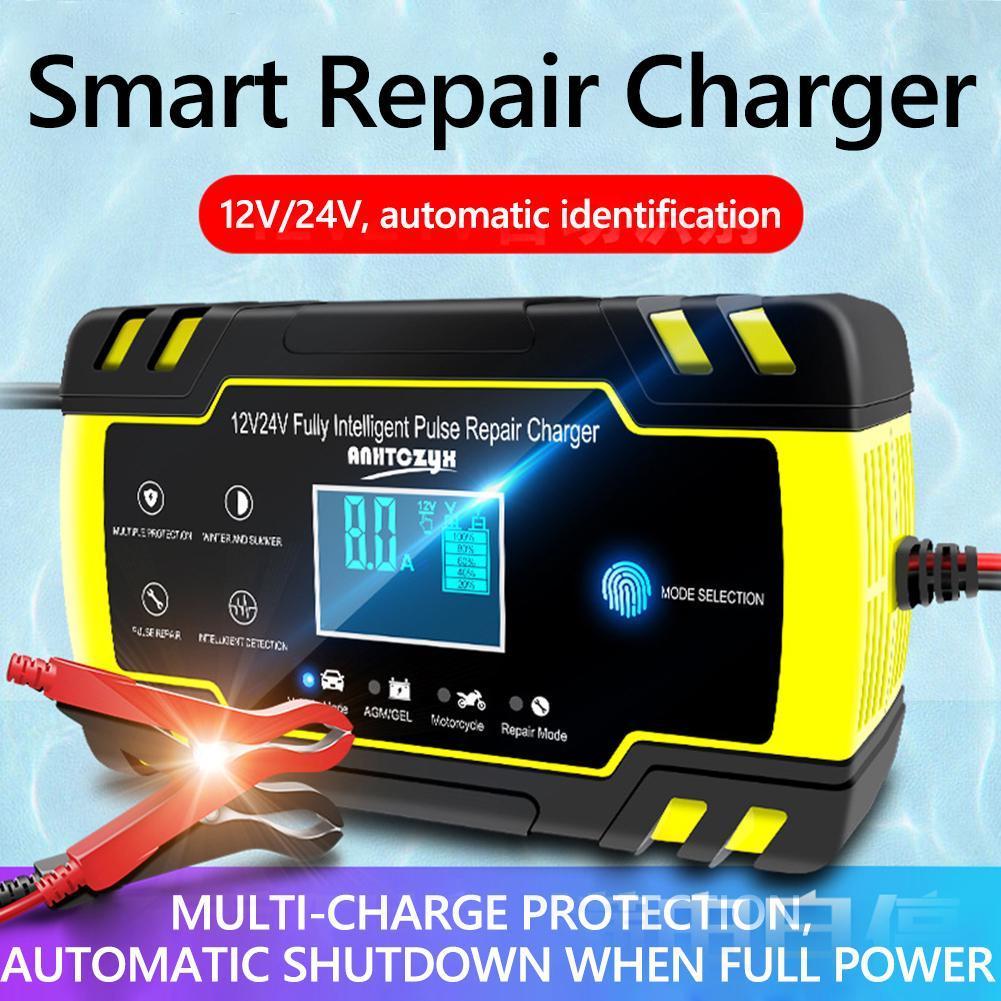 Автоматичне SMART зарядний пристрій авто акумулятора 24V 4A / 12V 8A з функцією відновлення АКБ