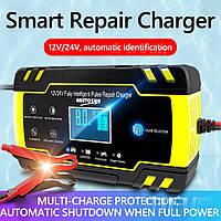 Автоматическое SMART зарядное устройство авто аккумулятора 24V 4A / 12V 8A с функцией восстановления АКБ