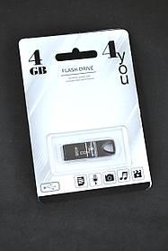 Флеш-накопитель Usb 4Gb 4you 117 Metal series Black