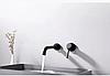 Змішувач для раковини вбудований чорний модель Lissabon Black, фото 2