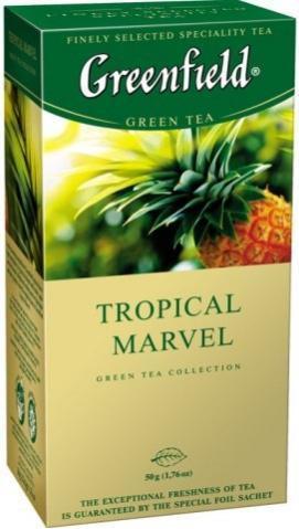 Чай в пакетиках зеленый Greenfield Tropical Marvel 25 п.