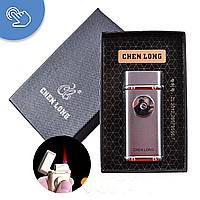 Зажигалка в подарочной коробке, Chen Long 4326, зажигалка газовая, зажигалка металлическая, зажигалки турбо