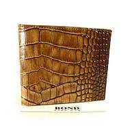 Портмоне, кошелек мужской кожаный Bond Non 541-354 коричневый, кроко
