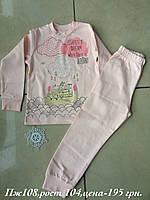 Пижама для девочки хлопковая на рост 104 ТМ Робинзон