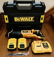 Аккумуляторная сабельная пила DeWalt DCS388T2 24V/4Ah. Электроножовка деволт для сада
