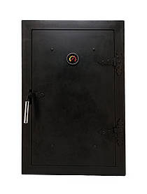 Дверцята для гасники утеплена з термометром, чавунна дверка пічна в коптильню 102812