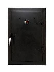 Дверцята для коптильні чавунна з термометром, дверка пічна в коптилку 102810