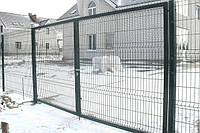 Ворота распашные, зашивка сетка , фото 1