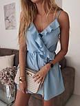 Жіноче літнє плаття з імітацією запаху на бретелях (Норма), фото 2