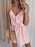 Жіноче літнє плаття з імітацією запаху на бретелях (Норма), фото 3