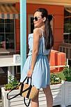 Жіноче літнє плаття з імітацією запаху на бретелях (Норма), фото 10