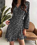 Нежное женское платье в цветочный принт из штапеля ассиметричной длины (Норма), фото 3