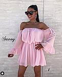Женское нежное шифоновое платье с открытыми плечами в расцветках (Норма), фото 6