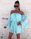 Женское нежное шифоновое платье с открытыми плечами в расцветках (Норма), фото 9