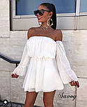 Женское нежное шифоновое платье с открытыми плечами в расцветках (Норма), фото 5