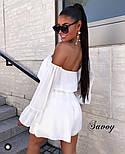 Женское нежное шифоновое платье с открытыми плечами в расцветках (Норма), фото 10