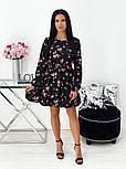 Женское нежное платье в цветочный принт из софта (Норма), фото 2
