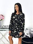 Женское нежное платье в цветочный принт из софта (Норма), фото 3