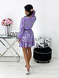 Женское нежное платье в цветочный принт из софта (Норма), фото 4
