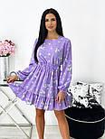 Женское нежное платье в цветочный принт из софта (Норма), фото 6