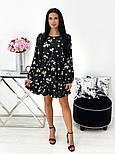 Женское нежное платье в цветочный принт из софта (Норма), фото 7