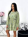 Жіноче ніжне плаття в квітковий принт з софта (Норма), фото 8