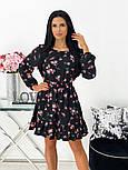 Женское нежное платье в цветочный принт из софта (Норма), фото 9
