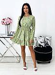 Жіноче ніжне плаття в квітковий принт з софта (Норма), фото 10