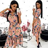 Жіноче видовжене ніжне плаття в квітковий принт з софта (Норма), фото 2