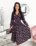 Жіноче ніжне видовжене сукню в квітковий принт з софта (Норма), фото 3
