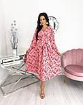Жіноче ніжне видовжене сукню в квітковий принт з софта (Норма), фото 5