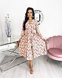 Жіноче ніжне видовжене сукню в квітковий принт з софта (Норма), фото 7