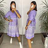 Нежное женское платье из штапеля в цветочный принт (Норма и батал), фото 2