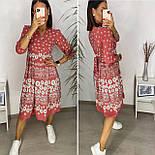 Нежное женское платье из штапеля в цветочный принт (Норма и батал), фото 3