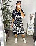 Нежное женское платье из штапеля в цветочный принт (Норма и батал), фото 4