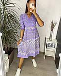 Нежное женское платье из штапеля в цветочный принт (Норма и батал), фото 5