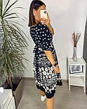 Нежное женское платье из штапеля в цветочный принт (Норма и батал), фото 7