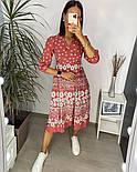 Нежное женское платье из штапеля в цветочный принт (Норма и батал), фото 8