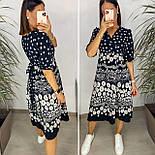 Нежное женское платье из штапеля в цветочный принт (Норма и батал), фото 9