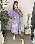 Нежное женское платье из штапеля в цветочный принт (Норма и батал), фото 10